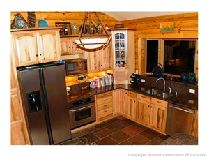 kitchen view of dillon colorado home for sale
