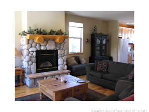 living room view of silverthorne colorado home for sale