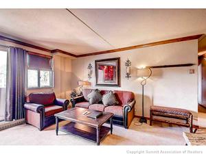 living room view of breckenridge condo for sale at 631 village road